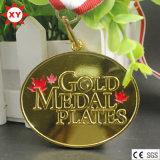 Heet verkoop de Geplateerde Medailles van het Messing Goud (XYmxl100802)