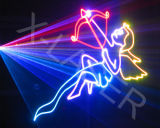 De Laser die van het stadium RGB Projector van de Laser van de Animatie van de Kaart van BR aansteekt