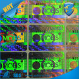 3D laser por encargo Holgraphic Sticker