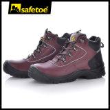 Zapatos de seguridad de cuero naturales de la alta calidad con el casquillo de acero M-8307 Brown de la punta