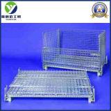 Cage lourde pliable de palette de treillis métallique