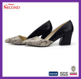 Snake Skin PU Lady Pointed Sandals
