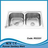Dissipador de cozinha do aço inoxidável (RS2333)