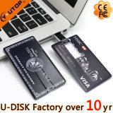주문 로고 신용 카드 USB2.0/3.0 플래시 메모리 드라이브