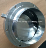 6 sanitari Inch Stainless Steel Butterfly Valve, Big Size 3A Butterfly Valve