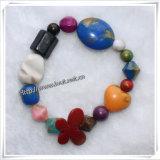 Pequeñas pulseras respetuosas del medio ambiente no tóxicas de los granos de los niños del corazón (IO-aj046)