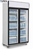 Schiebetür-Bildschirmanzeige-Kühlvorrichtung des Doppelt-1100liter mit eingehangenem Spitzenkompressor