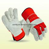Короткие перчатки заварки, перчатки безопасности работая, залатали перчатки ладони кожаный, 10.5 '' усиленных перчаток ладони кожаный работая, изготовление перчаток водителя