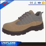 Calçados de aço claros da segurança da mulher do tampão do dedo do pé, sapatas de trabalho Ufa098 dos homens
