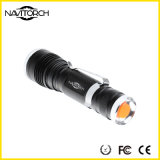 Linterna impermeable recargable del CREE XP-E Zoomable LED (NK-630)