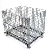 Warehouse accatastabile Storage Metal Wire Mesh Roll Cage con Wheels