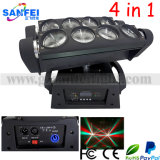 8PCS 10W Disco LED Moving Head 4in1 Beam Effect Lighting