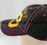 Chapeau lavé par base-ball promotionnel de sport de mode avec la connexion