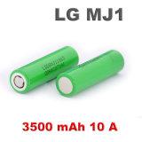 Bateria recarregável da bateria do Li-íon de Lgmj1 3.7V 3500mAh para o E-Cigarro