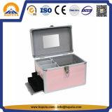 Caisse cosmétique colorée avec le tiroir et les compartiments (HB-2016)