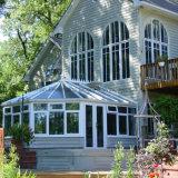 Sunroom de cristal de aluminio del mirador de la casa de la torta caliente (parada total transitoria)