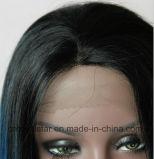 Pelo del frente del cordón del pelo vendedor caliente de larga peluca sintética recta