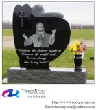 Полируя Heart-Shaped Snuggling Headstone гранита скульптуры ангела