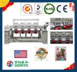 帽子、平らなおよび終了する衣服の刺繍(WY1204C/WY904C)のために適した高い生産4ヘッド商業刺繍Machinem