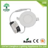3W 6W 9W Round Square Shaped Aluminum DEL Panel Lamp Lighting, DEL Panel