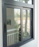 Tempered exterior Glass Aluminum Sliding Window com Mosquito Net
