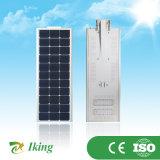 Constructeur de la Chine 50W tout dans un réverbère solaire Integrated de DEL avec le détecteur de mouvement