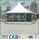 Im Freien sechseckiges 5X5m Aluminium-Pagode-Zelt-Kabinendach für Verkauf