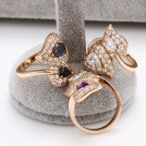 Ouro-Plated Jewelry Ring 12440 do Coração-Shaped 18k de Xuping Fashion Luxury Women Zircon