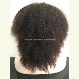 """du """" perruque crépue de cheveu bouclé plein lacet 18 pour les femmes de couleur #1b"""