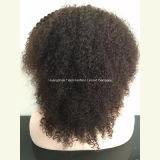 """ парик курчавых волос полного шнурка 18 Kinky для чернокожих женщин #1b"