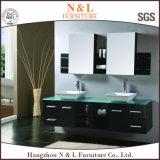 Governo di legno solido dello specchio della stanza da bagno di vanità della toilette dell'acciaio inossidabile del PVC della quercia