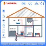 部屋の床下から来る暖房および熱い生命水のためのヒートポンプに水をまく水