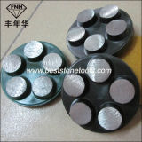 Segmento de moedura do diamante redondo da ligação do metal CD-44 com gancho & laço