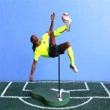 カスタム小型プラスチックスポーツのサッカーのスターはフットボール図を計算する