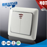 Interruptor de pared con luz indicadora LED