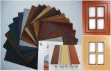 Conch UPVC Profile with Wood Grain Film Laminé sur l'intérieur et l'extérieur