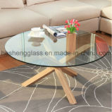 10mm Plain Round Tempered Table Glass Vidro Toughened