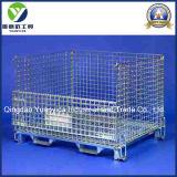L'euro pallet resistente pieghevole della maglia mette in gabbia i contenitori per le gabbie dell'acciaio del magazzino