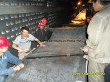 Banda transportadora de goma a prueba de calor/cinta de goma de la tela usada en la estación de Hotting