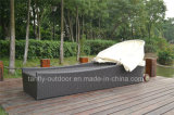 Lounger Sun ротанга мебели плавательного бассеина используемый напольный с сенью