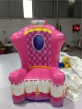 2016 Sale chaud Pink Inflatable Throne Party Chair à vendre