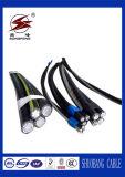 cable liado aéreo del ABC de la gota del servicio de arriba 1kv