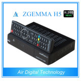 T2 real DVB C Zgemma H5 do decodificador DVB S2 DVB da tevê do equipamento H. 265 da transmissão