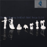 정원 Decoration를 위한 7mm-25mm Die Cast Unpainted Animal Figurines Sculpture