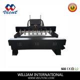 Cortador do Woodworking da máquina de estaca do router do CNC que cinzela a máquina de gravura da máquina (VCT-2225FR-8H)