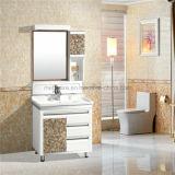 Einfache Nizza PVC-Badezimmer-Eitelkeit, schwarzer PVC-Badezimmer-Schrank