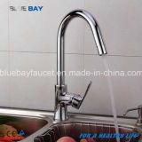 Trou simple de traitement de chrome en laiton de bassin de robinet de mélangeur de Hot&Cold de taraud de cuisine