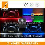 Offroad LED 바위 빛이 도매 4 RGB Bluetooth 바위에 의하여 4X4 점화한다