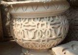 Im Freien SandsteinPolyresin geschnitzter Flowerpot für Garten-Dekoration