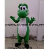 Historieta del traje de la mascota de Yoshi del color verde